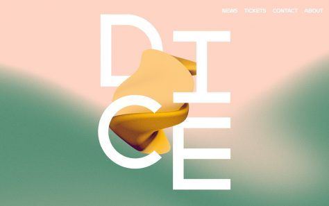 DICE Conference + Festival, Berlin – Conference + Festival featuring Female, Trans + Nonbinary People in MusicのWEBデザイン