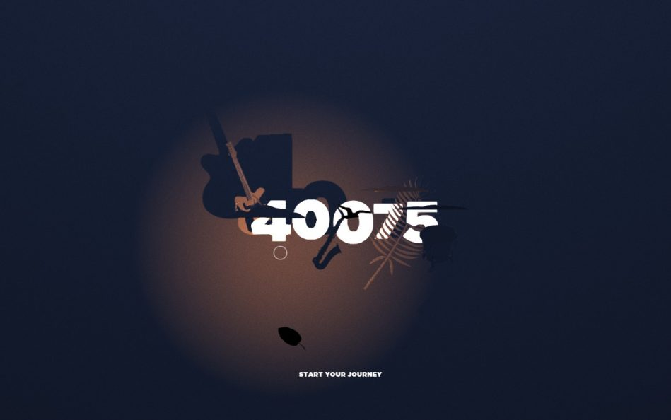 40075 – A musical experienceのWEBデザイン