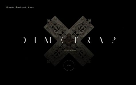 T.I. – The Dime TrapのWEBデザイン
