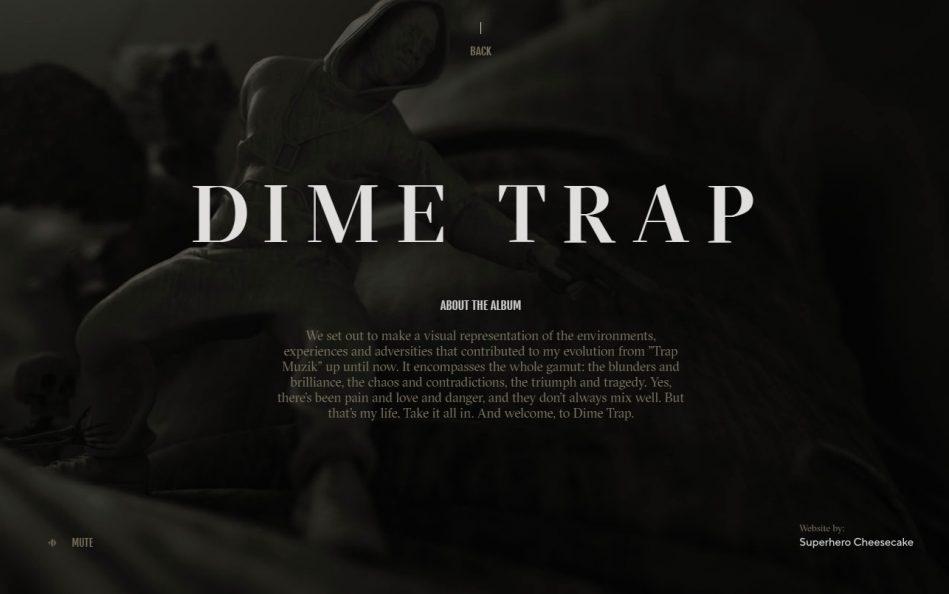 T.I. – The Dime TrapのWEBデザイン