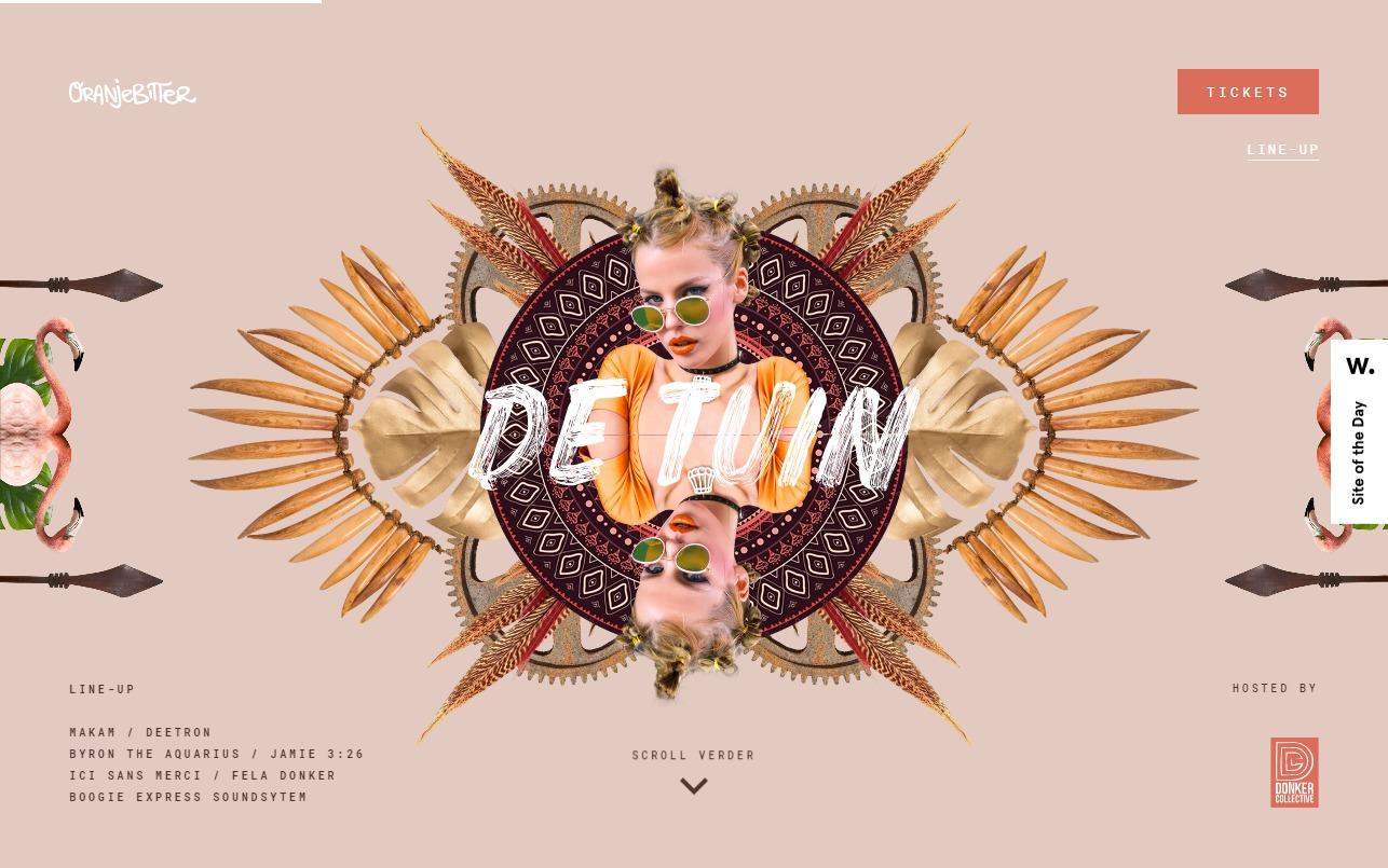 OranjebitterのWEBデザイン