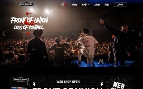 FRONT OF UNION | フロントオブユニオン オフィシャルサイトのWEBデザイン