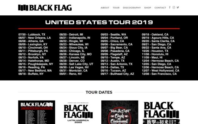 Black Flag – Black FlagのWEBデザイン