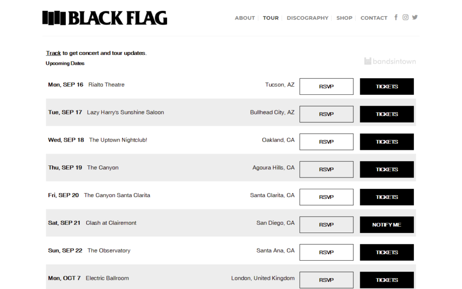 Black Flag – Black FlagのWEBデザイン