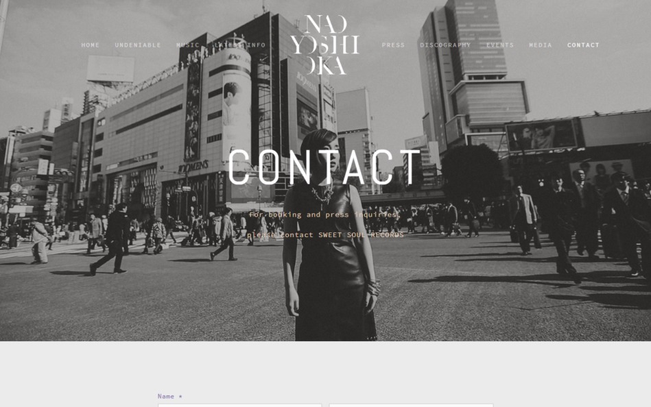 Nao Yoshioka Official WebのWEBデザイン