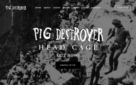 PIG DESTROYERのWEBデザイン