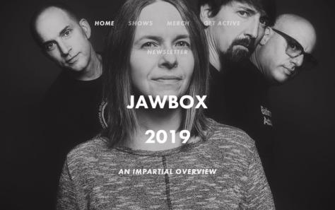 Jawbox 2019のWEBデザイン
