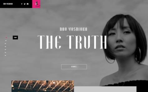 Nao Yoshioka | THE TRUTHのWEBデザイン