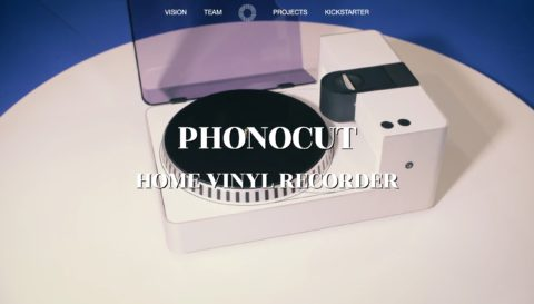 PHONOCUT Home Vinyl RecorderのWEBデザイン