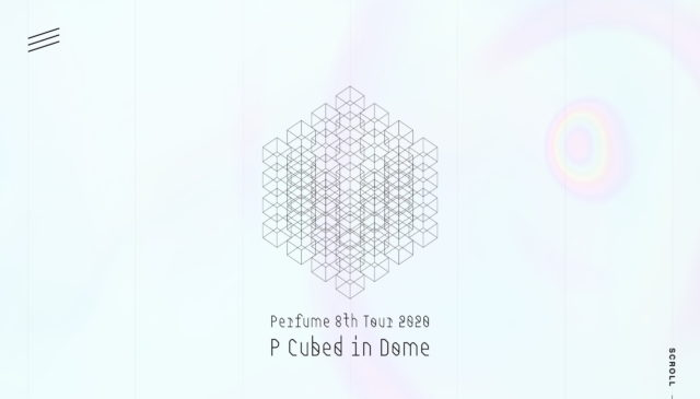 """「Perfume 8th Tour 2020 """"P Cubed"""" in Dome」特設サイトのWEBデザイン"""