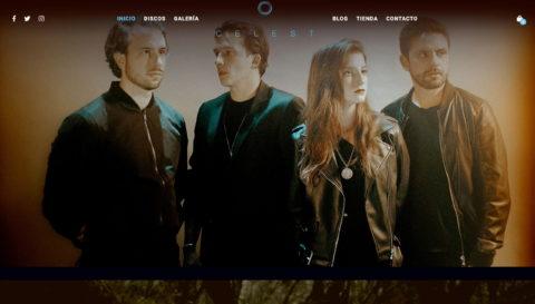 Celest – Banda Mexicana de Rock AlternativoのWEBデザイン