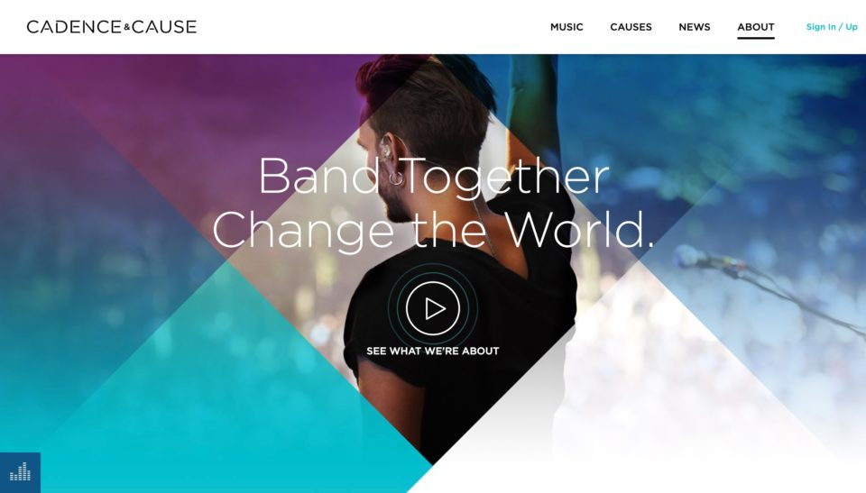 Listen Today. Change Tomorrow. | Cadence & CauseのWEBデザイン