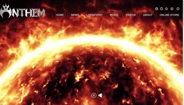 ANTHEM(アンセム) | official siteのWEBデザイン