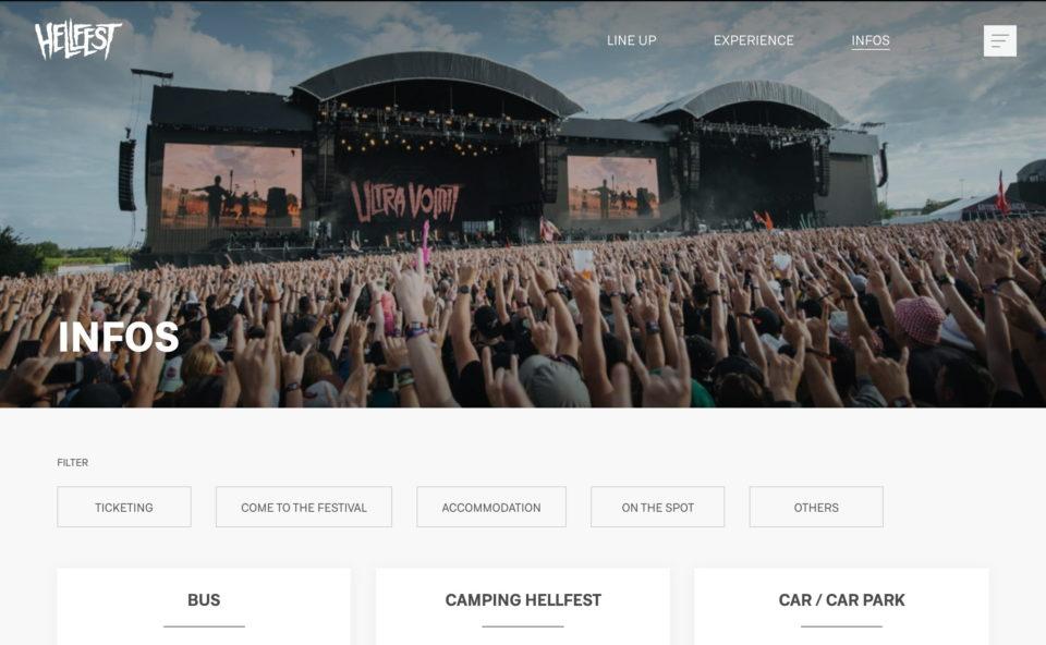 Hellfest – Open AirのWEBデザイン