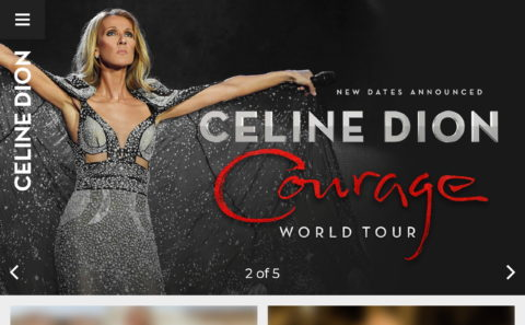 CelineDion.com | The Official Website of Celine DionのWEBデザイン