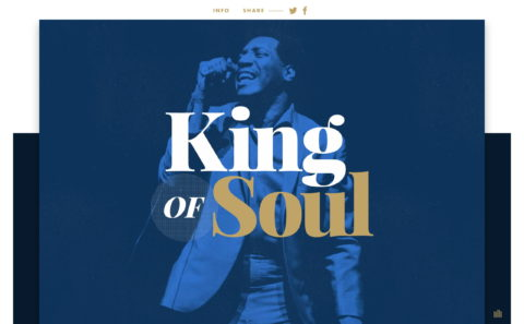 King of SoulのWEBデザイン