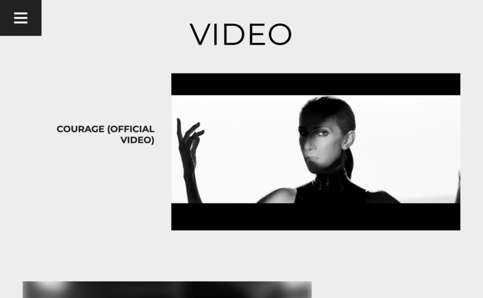 CelineDion.com | The Official Website of Celine DionのWEBデザイン