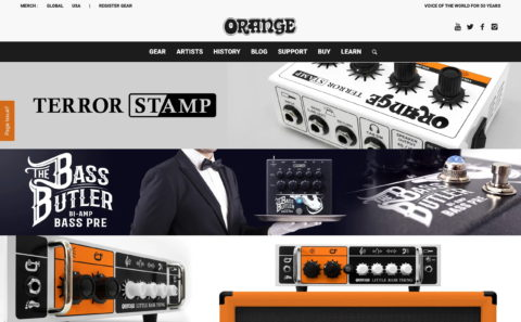 Orange Amps – British Guitar AmpsのWEBデザイン
