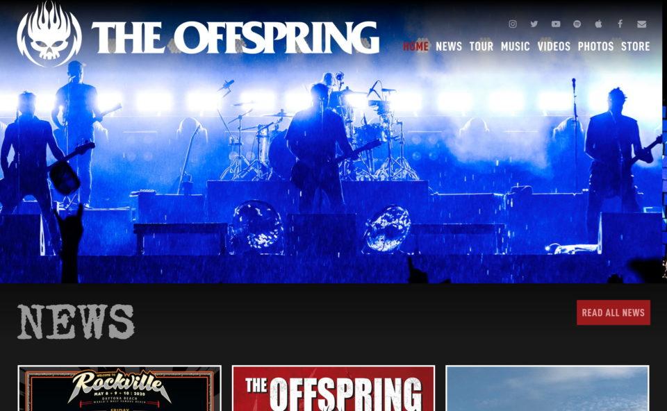 The OffspringのWEBデザイン