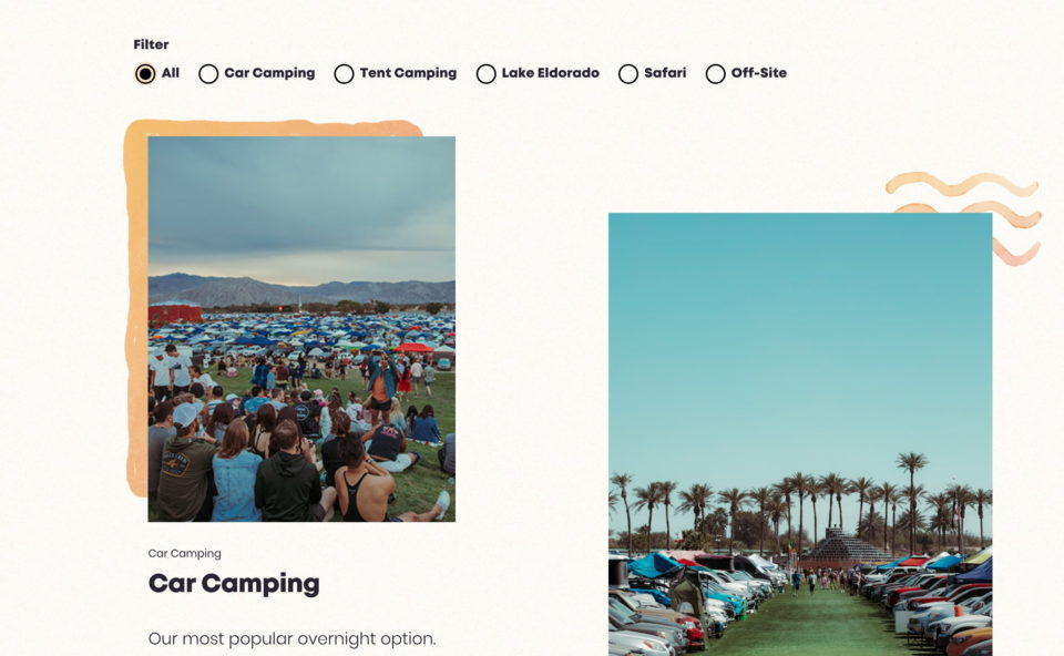 Coachella Valley Music and Arts FestivalのWEBデザイン