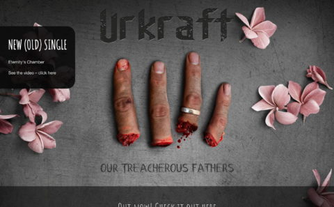 Urkraft | Danish Death Metal | Our Treacherous FathersのWEBデザイン