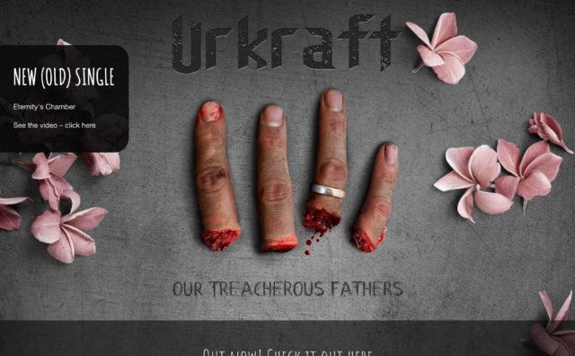 Urkraft | Danish Death Metal | Our Treacherous FathersのWEBデザイン