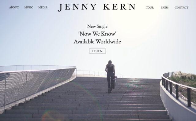Jenny Kern MusicのWEBデザイン