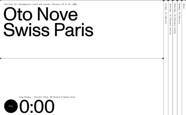 Oto Nove Swiss Paris, February 21 to 23, 2020のWEBデザイン