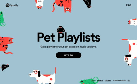Home | Spotify for PetsのWEBデザイン