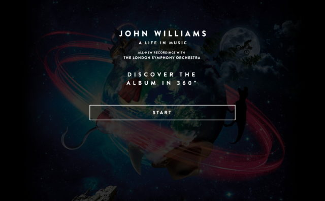 John Williams: A Life in Music 360のWEBデザイン