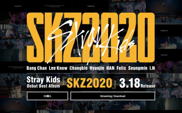 Stray Kids『SKZ2020』Special SiteのWEBデザイン