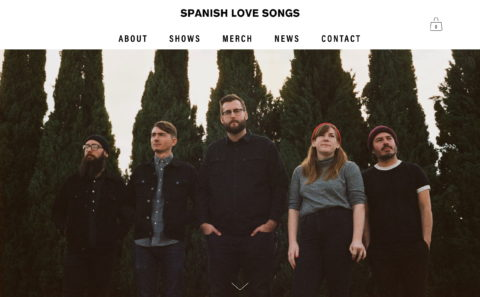Spanish Love SongsのWEBデザイン