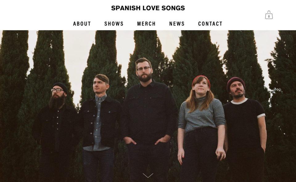 Spanish Love SongsのWEBデザイン