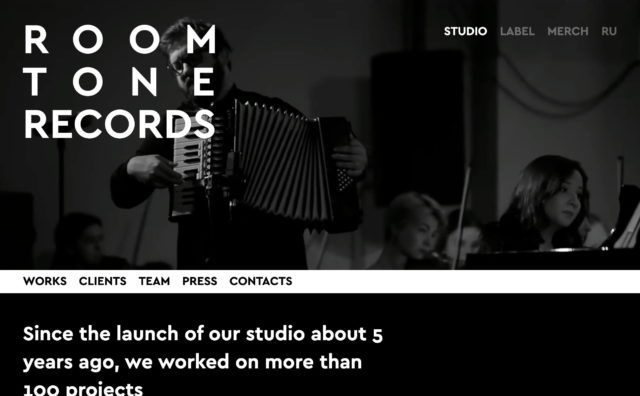 Roomtone Records » StudioのWEBデザイン