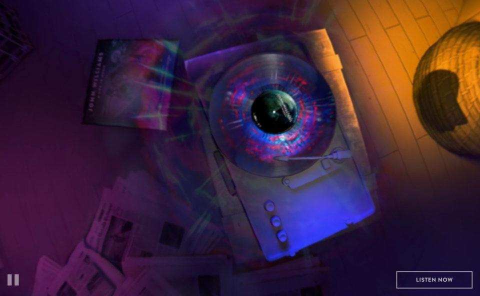 John Williams: A Life in Music 360のWEBデザイン