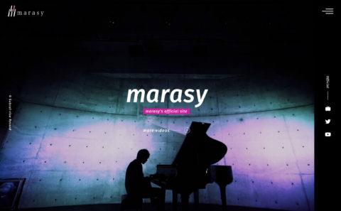 まらしぃ marasy オフィシャルサイトのWEBデザイン