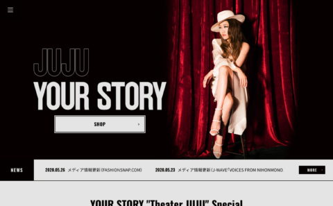 JUJU ベストアルバム「YOUR STORY」SPECIAL SITEのWEBデザイン