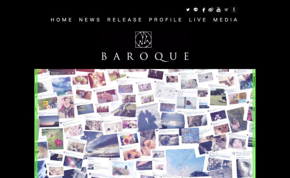 BAROQUE OFFICIAL SITEのWEBデザイン
