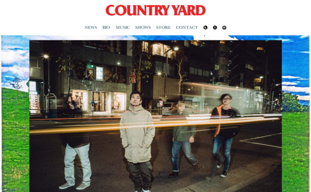 COUNTRY YARD OFFICIAL WEBのWEBデザイン