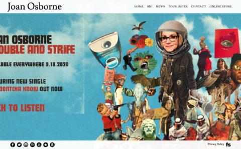 Joan OsborneのWEBデザイン