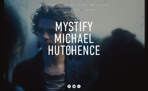 Mystify Michael HutchenceのWEBデザイン
