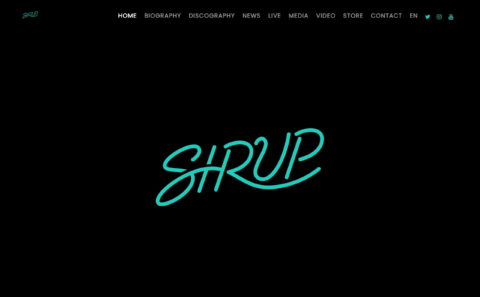 SIRUP – SIRUP OFFICIAL SITEのWEBデザイン
