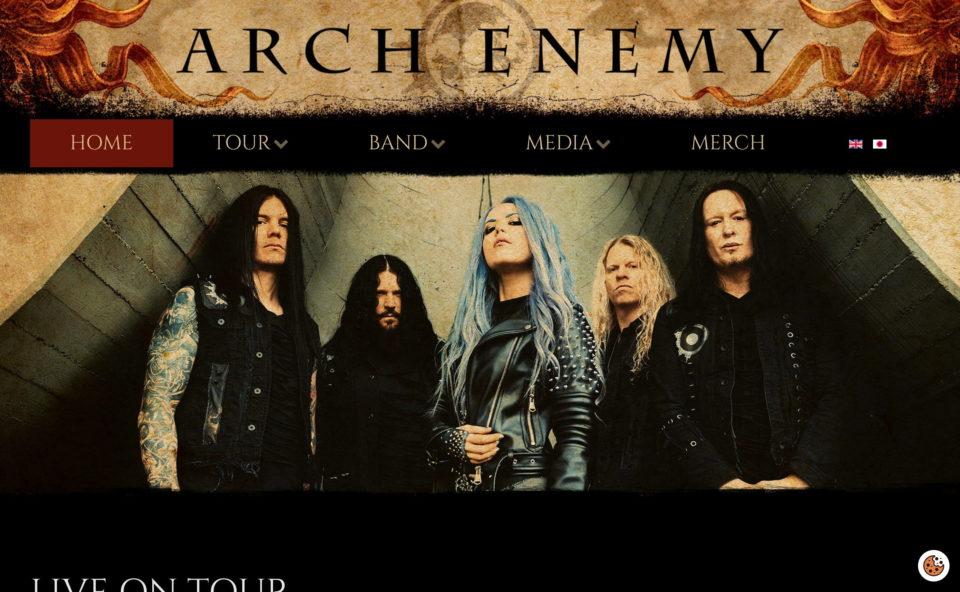 Home – Arch EnemyのWEBデザイン