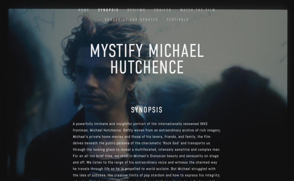 Mystify Michael HutchenceのWEBデザイン