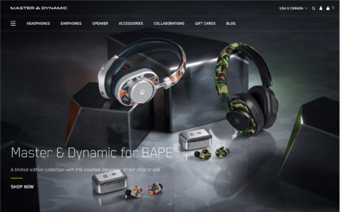 Professional Headphones & Luxury Earphones| Master & Dynamic OfficialのWEBデザイン