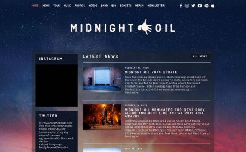 Midnight OilのWEBデザイン
