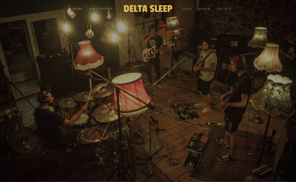 Delta SleepのWEBデザイン