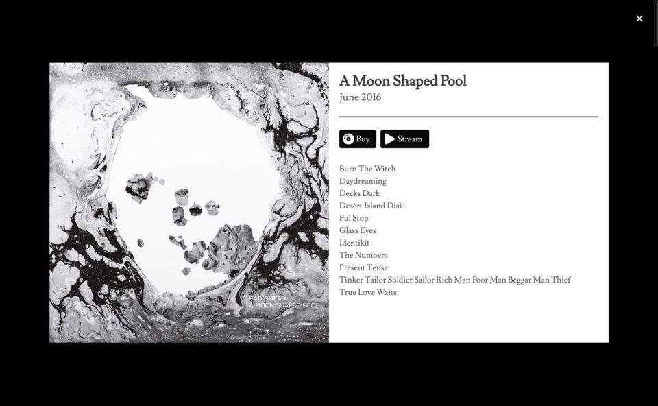 Radiohead Public LibraryのWEBデザイン