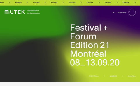 MUTEK Montreal | International festival of digital creativity and…のWEBデザイン