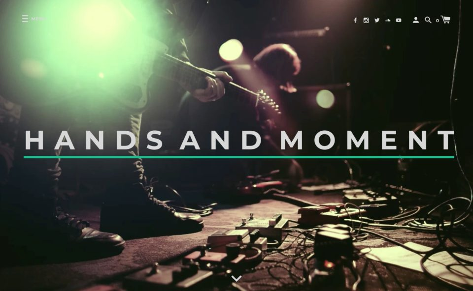 HANDS AND MOMENTのWEBデザイン